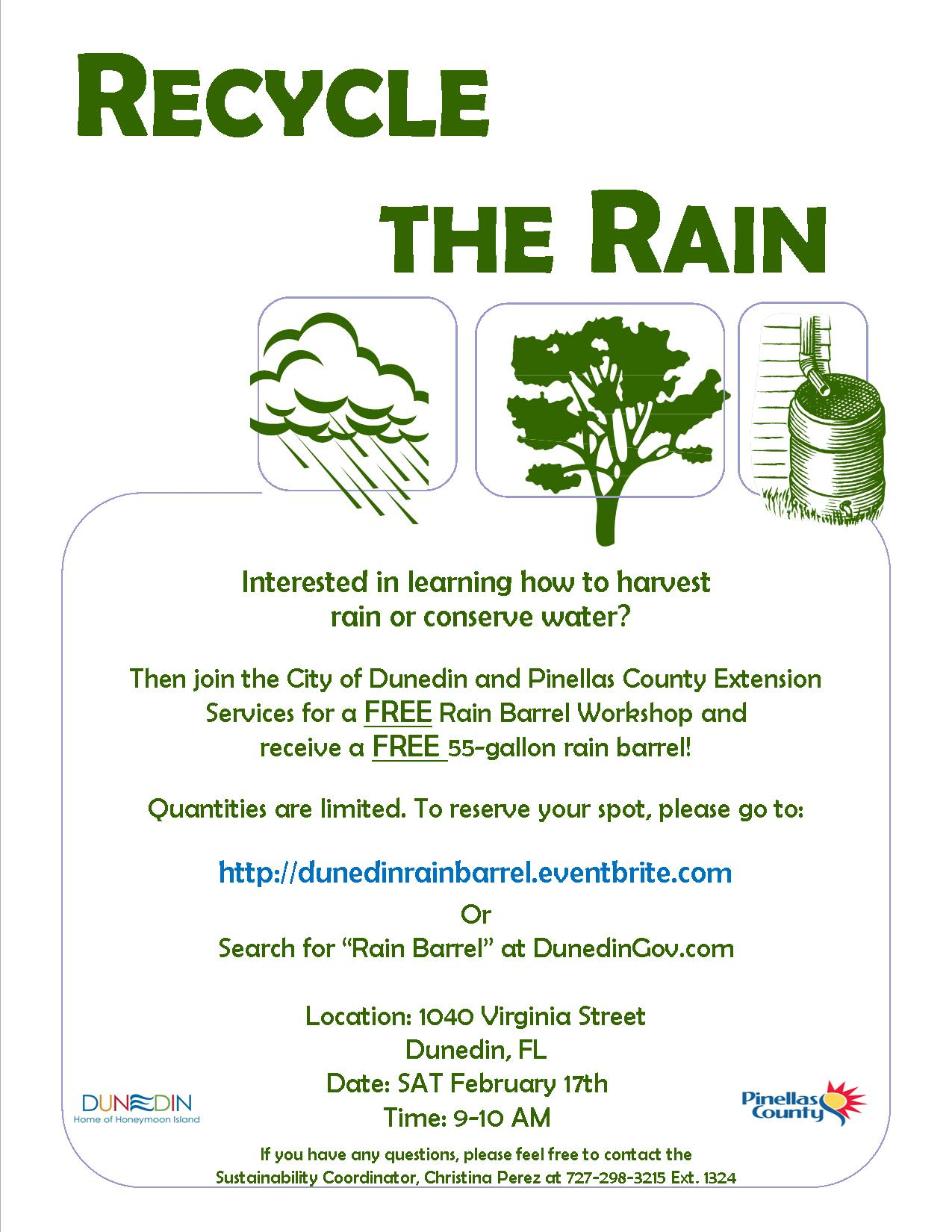 rain barrel PSA Feb 17th