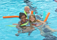 kids in a pool