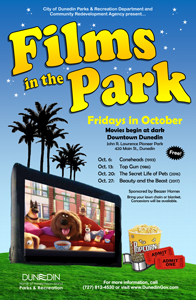 Films in the Park Oct 2017 poster