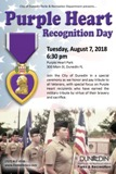Purple Heart Recognition Day 2018