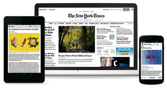Read the New York Times Online