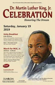 MLK, Jr. Celebration poster