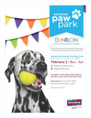 Achieva Paw Park Reopening flyer