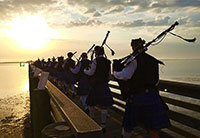 Pipers on the Pier