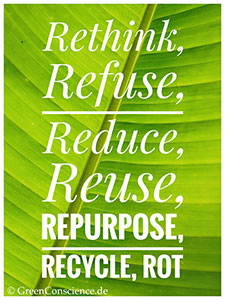 green shop reduce reuse recycle epa