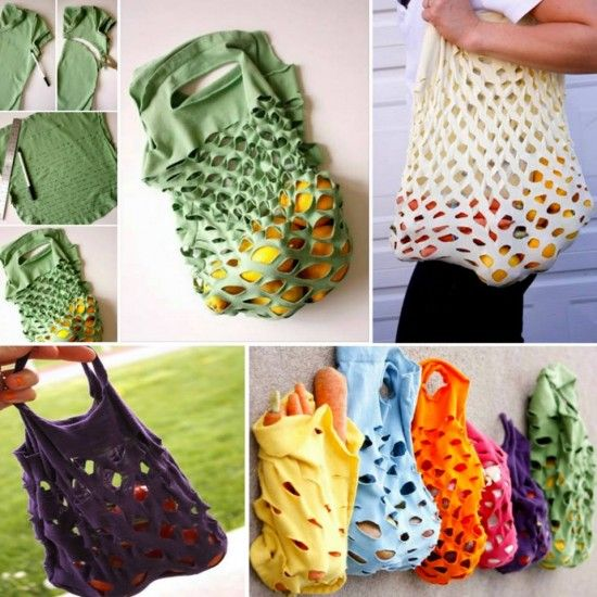tshirt produce bag