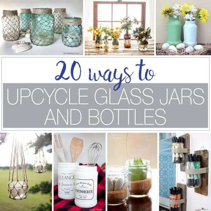 upcycle glass jars