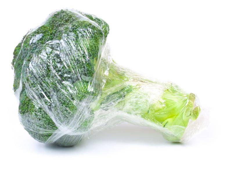 Broccoli in Plastic