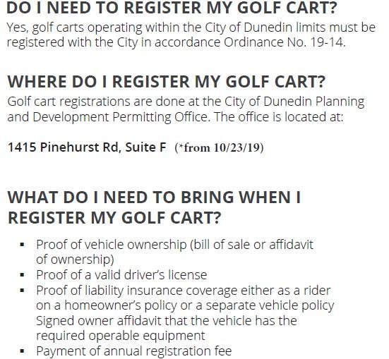 Golf Cart Registration 2