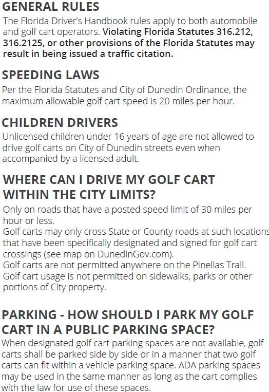 Golf Cart Regulations 3