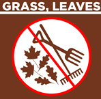 Dont put grass leaves and yard debris in recycling