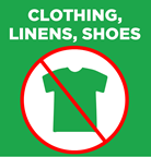 Dont put clothing and textiles in recycling