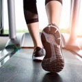 treadmill with shoes